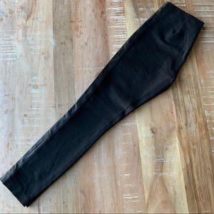 J.Crew Pixie Pant Leather Tuxedo Stripe Black Sz 4
